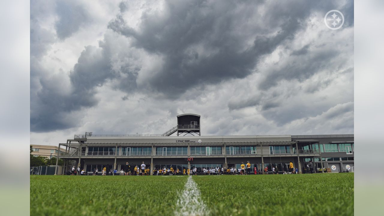 Pittsburgh Steelers players participate in the Organized Team Activity (OTA) at the UPMC Rooney Sports Complex.