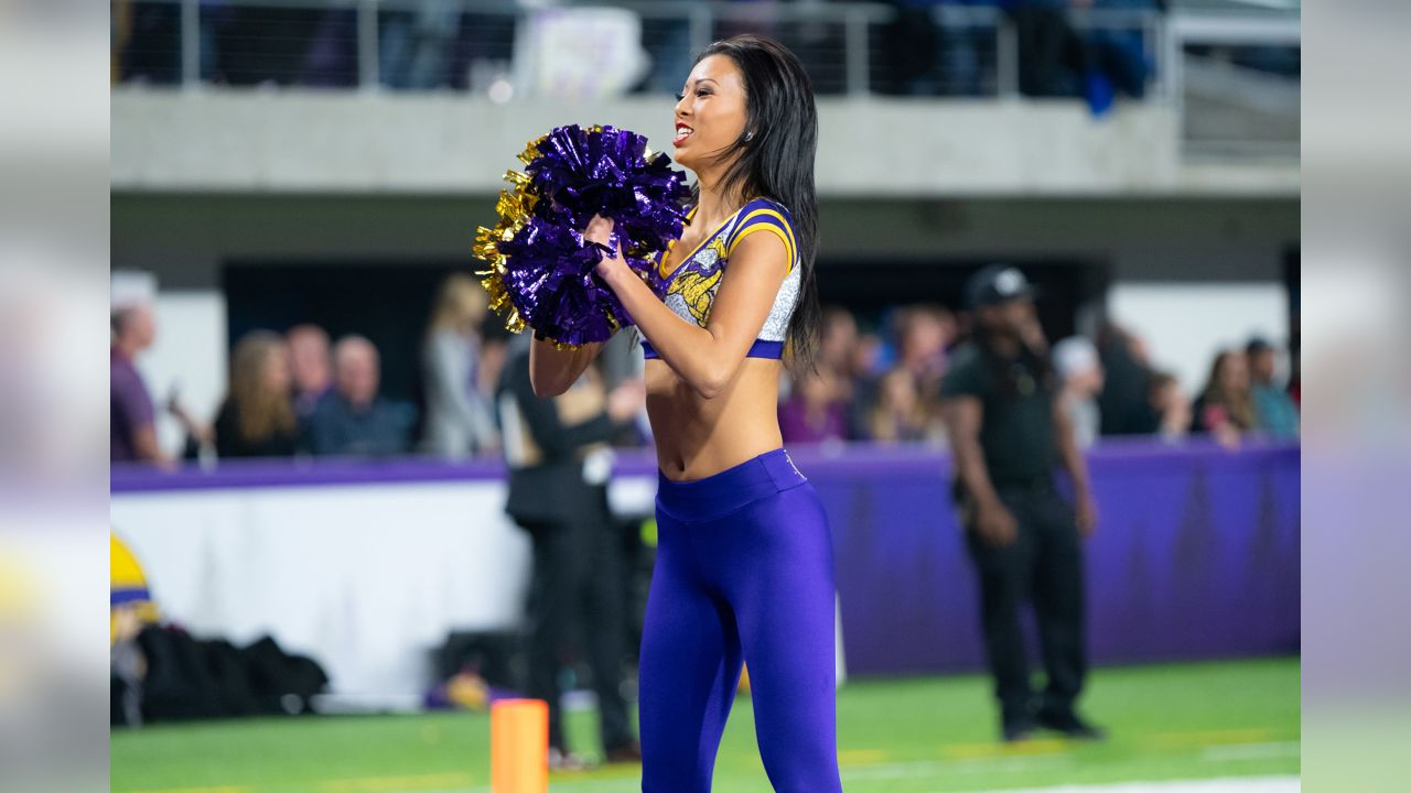 An image from the November 25, 2018 home game against the Green Bay Packers at U.S. Bank Stadium in Minneapolis, Minnesota. The Vikings won 24-17.