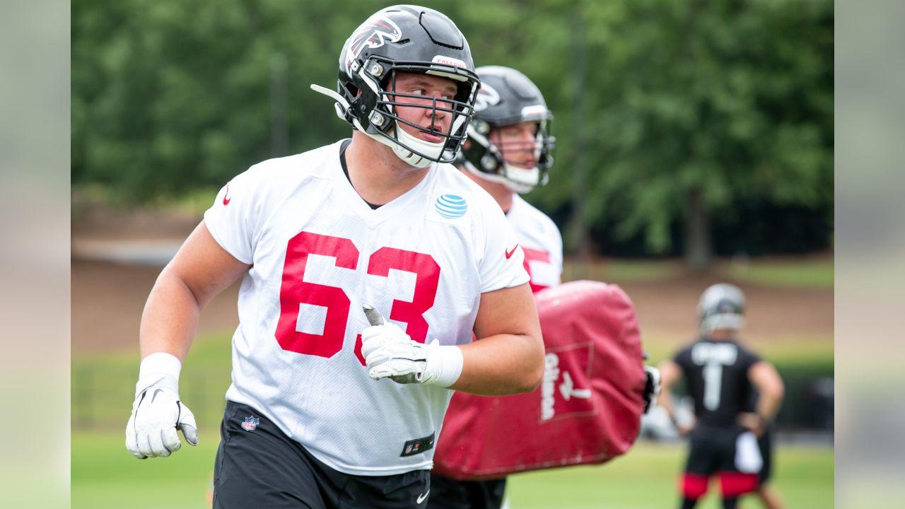 Atlanta Falcons #63 Chris Lindstrom Draft Game Jersey - Red
