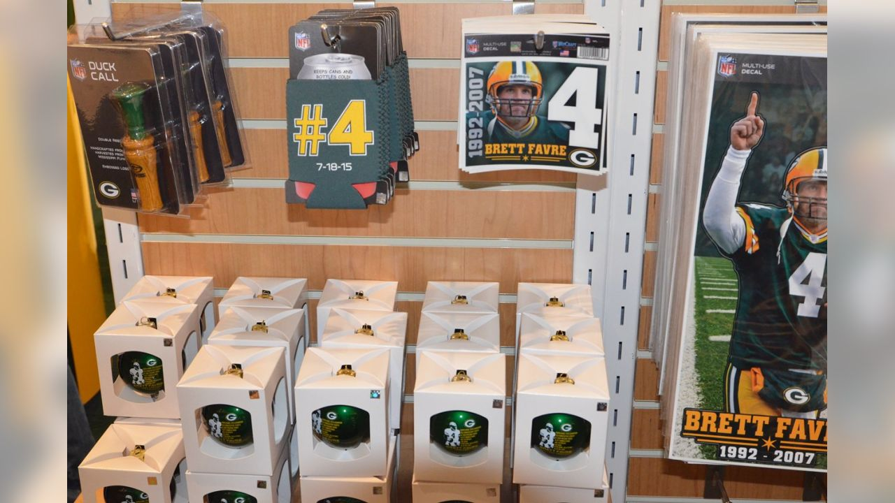new concept 13b16 3b0ca Brett Favre merchandise in the Pro Shop