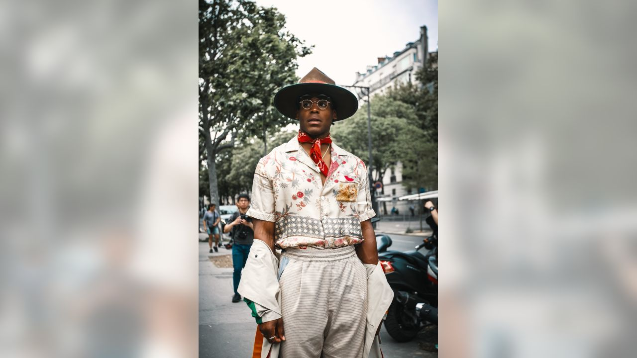 Cam Gay cam newton takes his style to paris