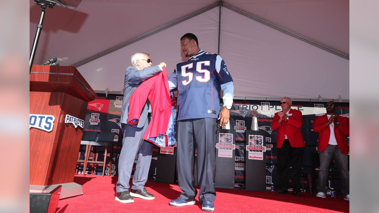 reputable site 1273b 99c99 Willie McGinest & Houston Antwine inducted into Patriots ...