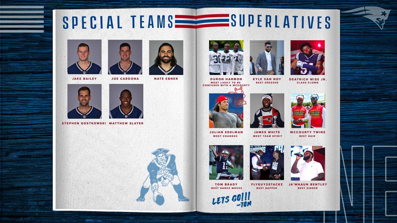 2019 Patriots 53 Man Yearbook