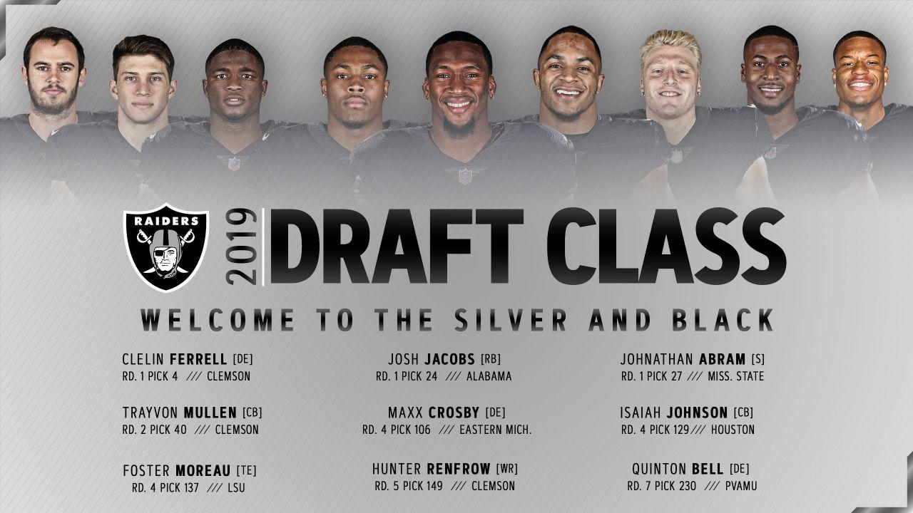 Meet The 2019 Raiders Draft Class