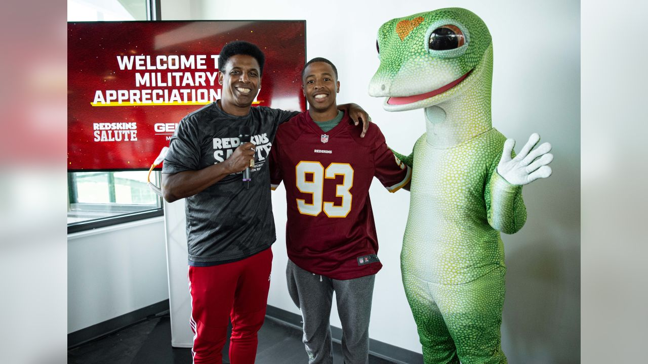 low priced c8354 60a6f Redskins Salute Hosts Military Appreciation Day At Training Camp