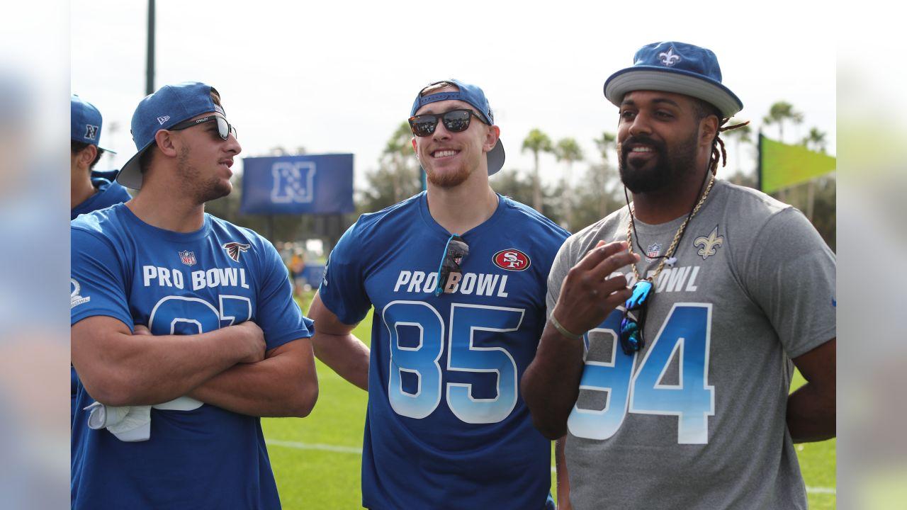wholesale dealer acfa9 17b78 Saints at 2019 NFL Pro Bowl Practice Day 1 - January 23, 2019