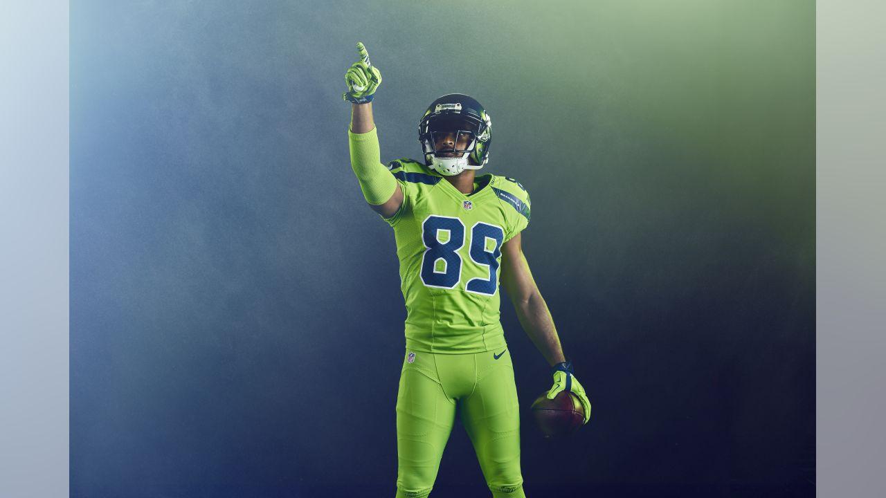 Nfl Color Rush Seahawks Introduce Action Green Uniform