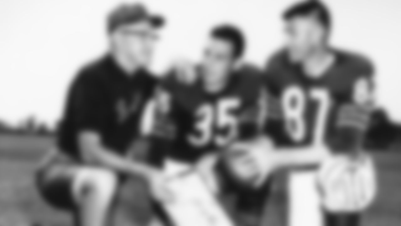 (10) 1954 The Bears landed two key offensive stars in the 1954 draft in second-round fullback Rick Casares and 15th-round receiver Harlon Hill. Casares played 10 seasons with the Bears, rushing for 5,675 yards and 49 touchdowns on 1,386 carries. He was the franchise's all-time leader rusher until he was surpassed by Walter Payton in 1979. Hill spent eight seasons with the Bears. He was voted NFL Rookie of the Year in 1954, became the first winner of the Jim Thorpe Trophy as league MVP in 1955, and was a three-time All Pro selection.