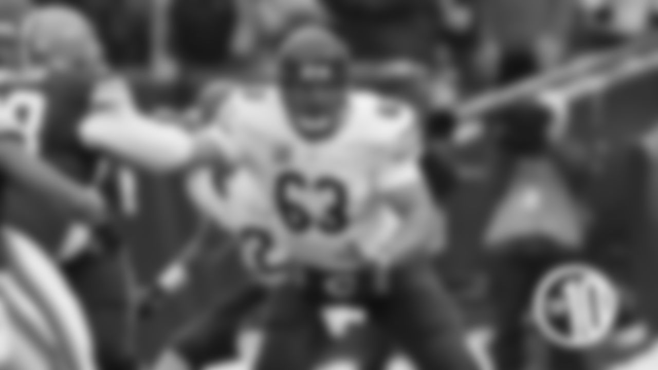 10. Robert Garza, offensive line (74)  The versatile Garza was a key member of the Bears offensive line for 10 seasons from 2005-14, first at guard and then at center.
