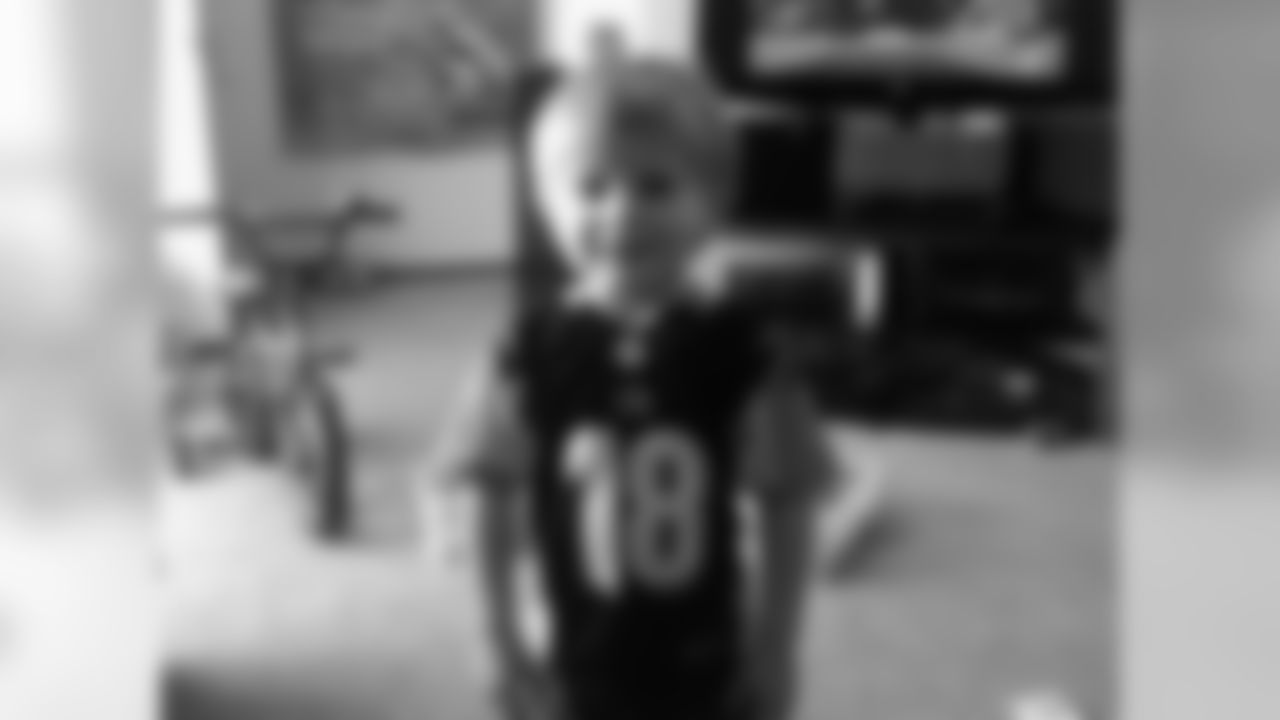My grandson JJ in his A.J. Green jersey. --Brad Barnes