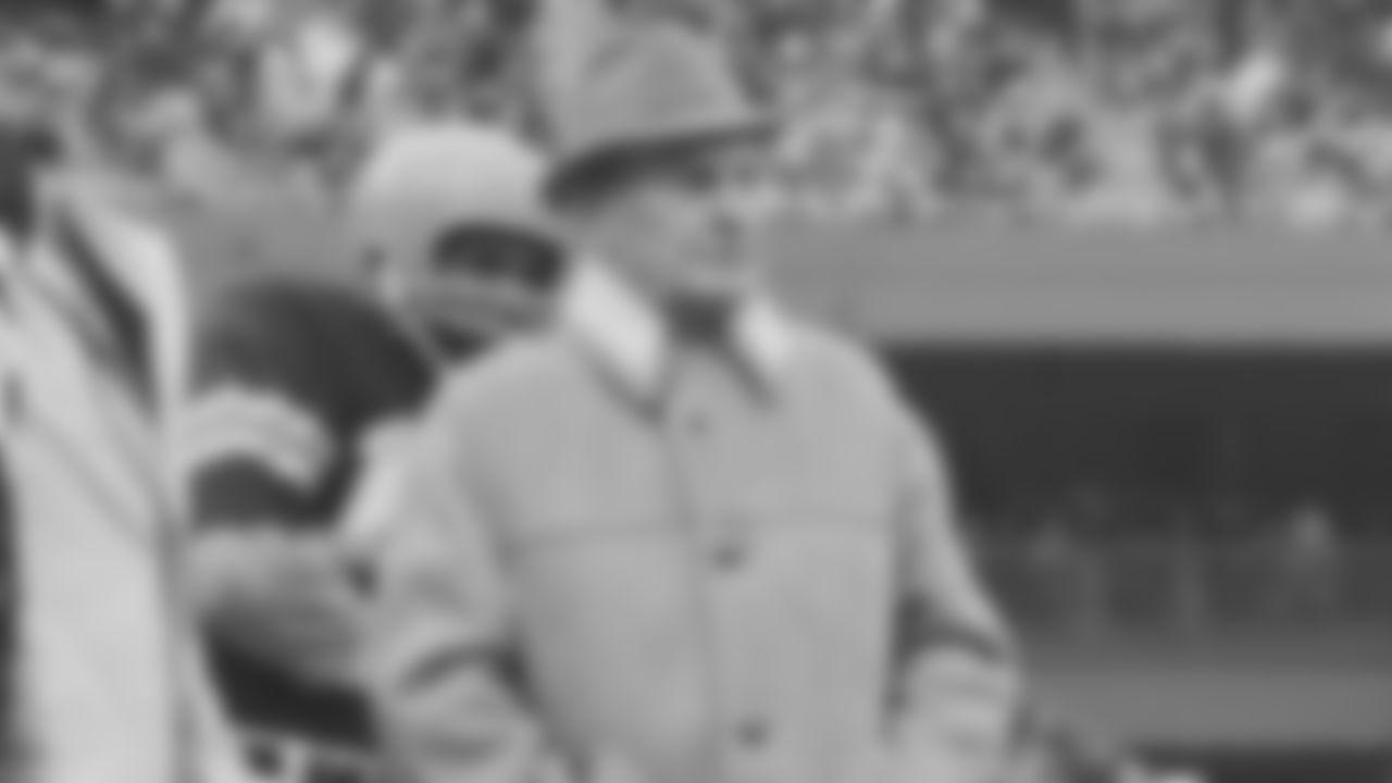 Cincinnati Bengals coach Paul Brown is pictured at Riverfront Stadium in Cincinnati, Ohio.