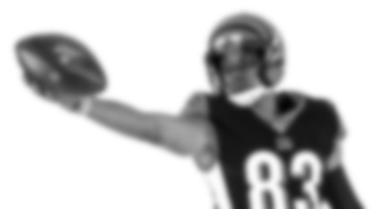 Cincinnati Bengals wide receiver Tyler Boyd (83) poses for a photo on media day, Monday, June 10, 2019 in Cincinnati. (Aaron Doster/NFL)