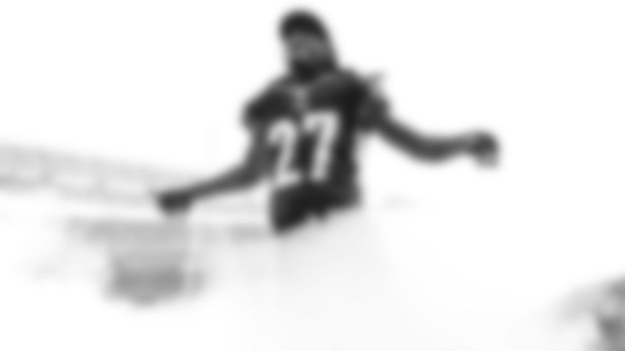 Cincinnati Bengals defensive back Dre Kirkpatrick (27) reacts as he runs onto the field prior to an NFL football game in Cincinnati. (NFL Photos via AP)