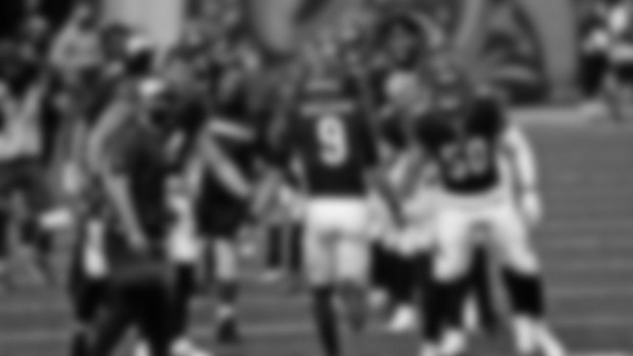 Cincinnati Bengals quarterback Joe Burrow (9) takes the field before an NFL football game against the Jacksonville Jaguars in Cincinnati, Sunday, Oct. 4, 2020. (AP Photo/Bryan Woolston)