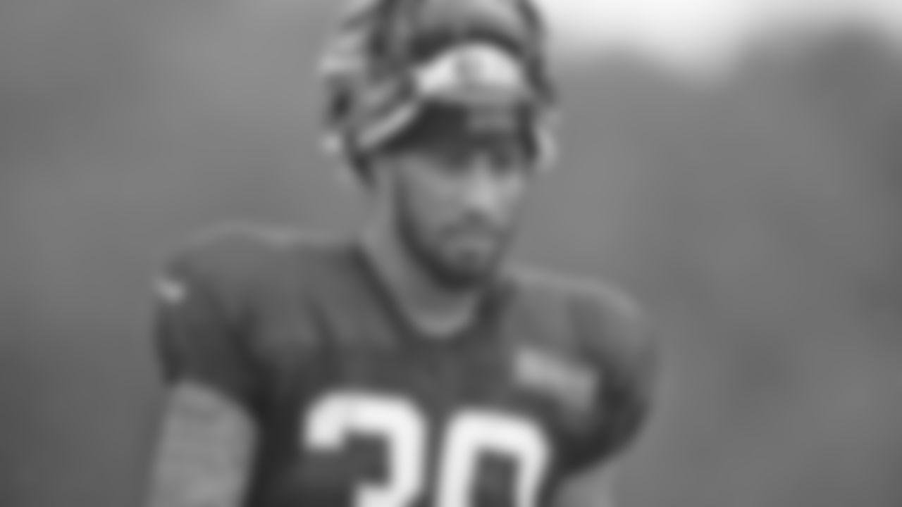 Cincinnati Bengals' Jessie Bates III stands on the field during an NFL football camp practice in Cincinnati, Thursday, Aug. 27, 2020. (Ryan Meyer via AP)