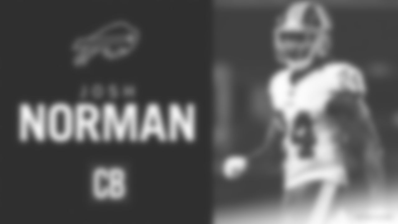 The Bills have signed Josh Norman to a one-year contract.  Norman joins the Bills after being released by Washington. He is expected to compete for a starting corner position opposite of Tre'Davious White.