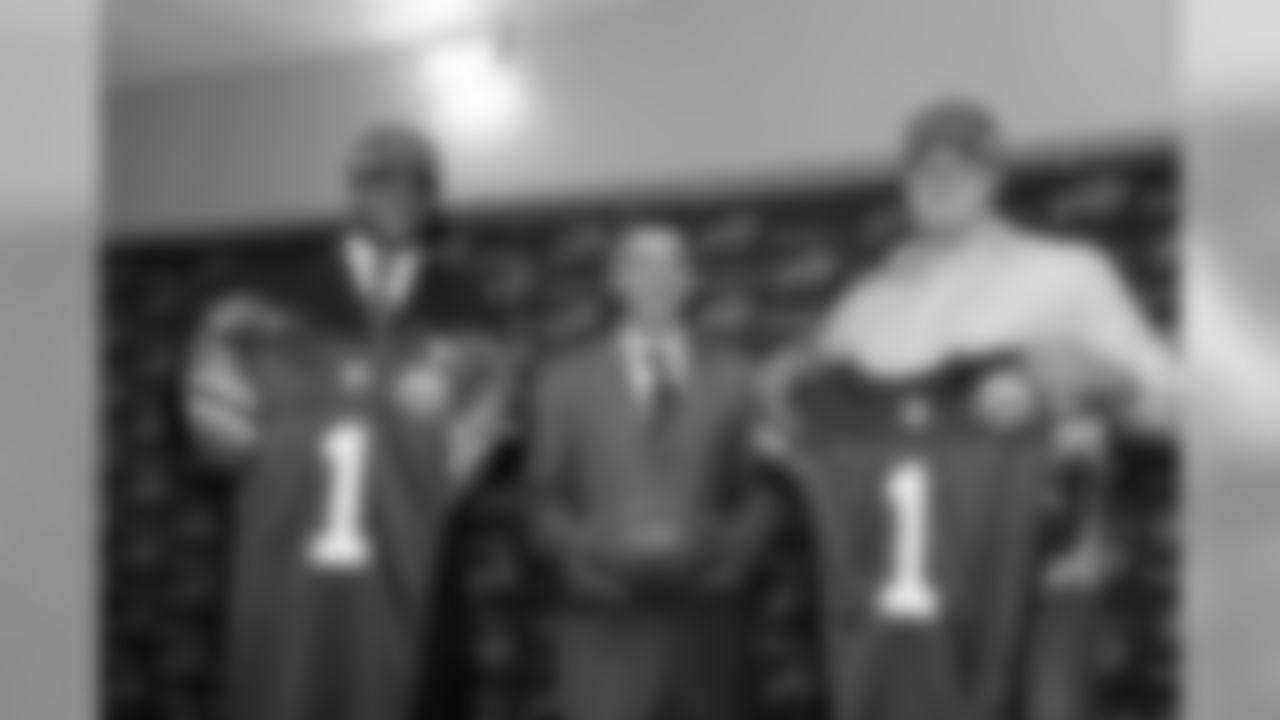 Aaron Maybin, COO/GM Russ Brandon and Eric Wood
