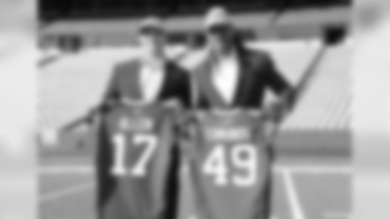 Buffalo Bills 2018 Draft picks Josh Allen and Tremaine Edmunds arrive in Buffalo. Photo by Bill Wippert April 27, 2018