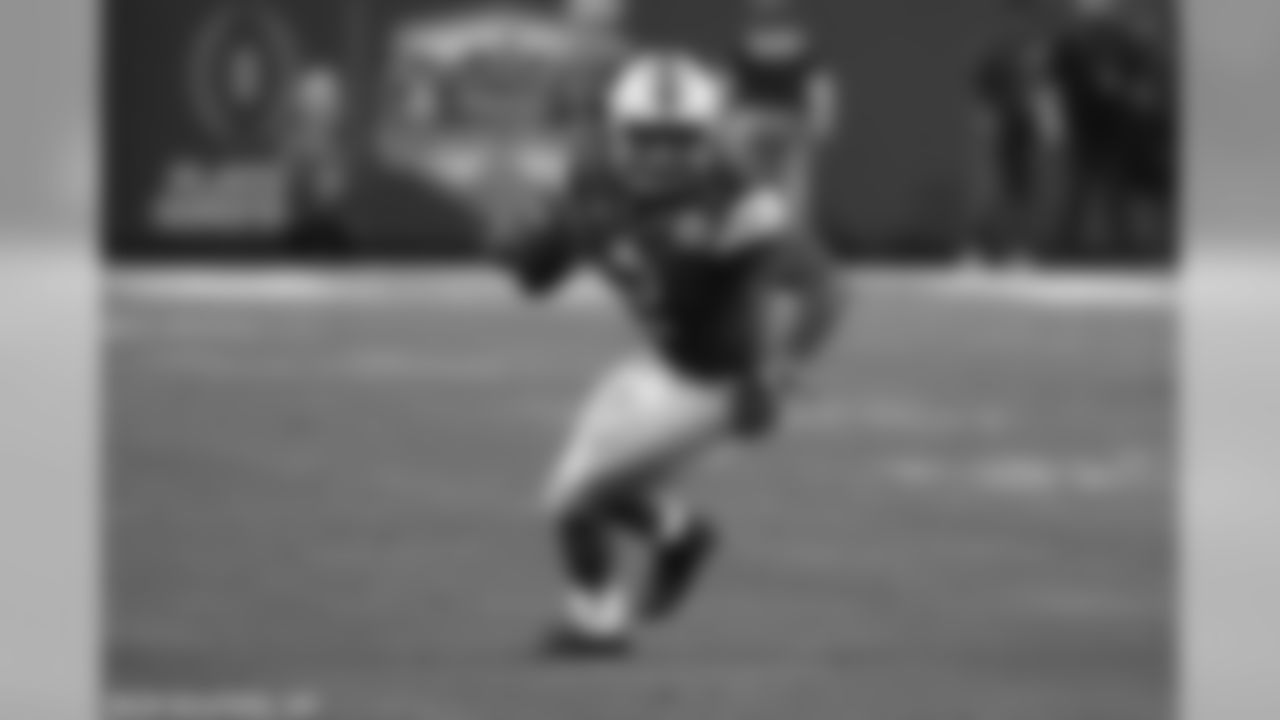 J.K. Dobbins | RB | Ohio State  Dobbins certainly fits the mold of a three down back that teams use in a variety of ways in today's NFL. He could be a nice addition for Buffalo on offense to go with their current group.  Ohio State running back J.K. Dobbins (2) during the first half of the Fiesta Bowl NCAA college football game against Clemson, Saturday, Dec. 28, 2019, in Glendale, Ariz. (AP Photo/Rick Scuteri).