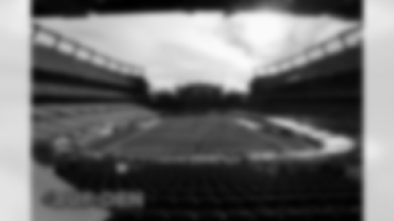 A view of the field before the Broncos' Week 15 game against the Buffalo Bills at Empower Field at Mile High in Denver, Colorado on December 19, 2020. (Photo by Gabriel Christus)