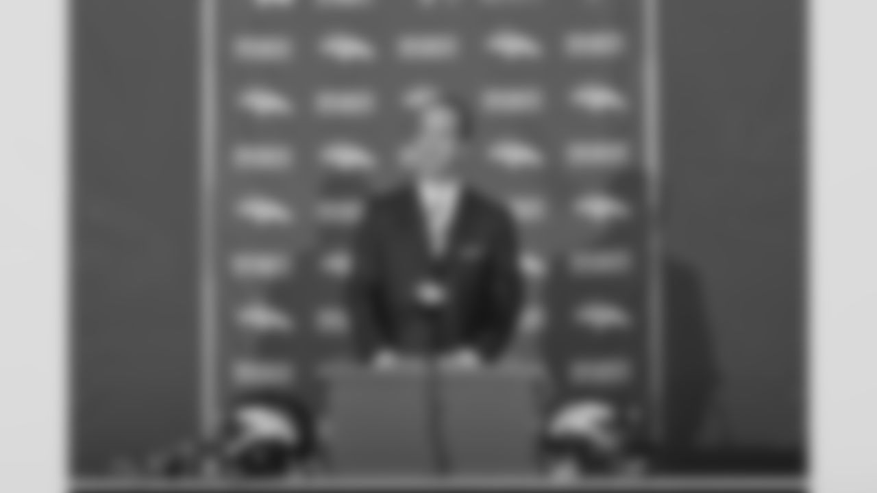 After deciding to join the Broncos, Peyton Manning addresses the media during a news conference at the team's headquarters in Englewood, Colo., on Tuesday, March 20, 2012. The franchise's course would be changed forever.