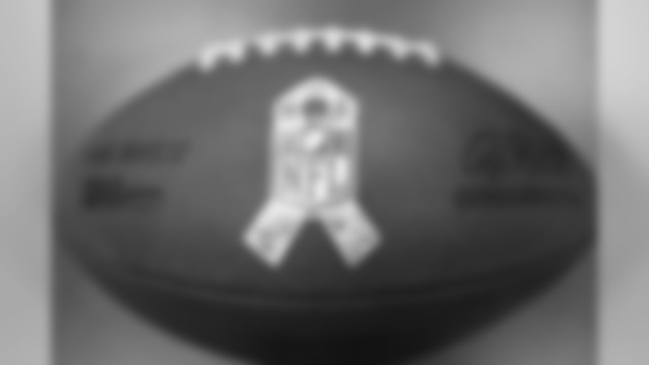 The official NFL game ball for Salute to Service games.