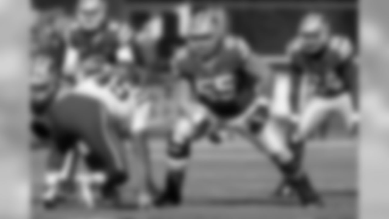 """C/G Cody Whitehair, Kansas State """"The need for stability at quarterback is a clear issue, but there isn't a likely Week 1 starter available at No. 31, and there's still time to make a trade to help the situation there. What I do have is an obvious need for another offensive lineman, and Whitehair is a potential starter at guard, where there is a clear need, with experience at tackle."""" [April 19]"""