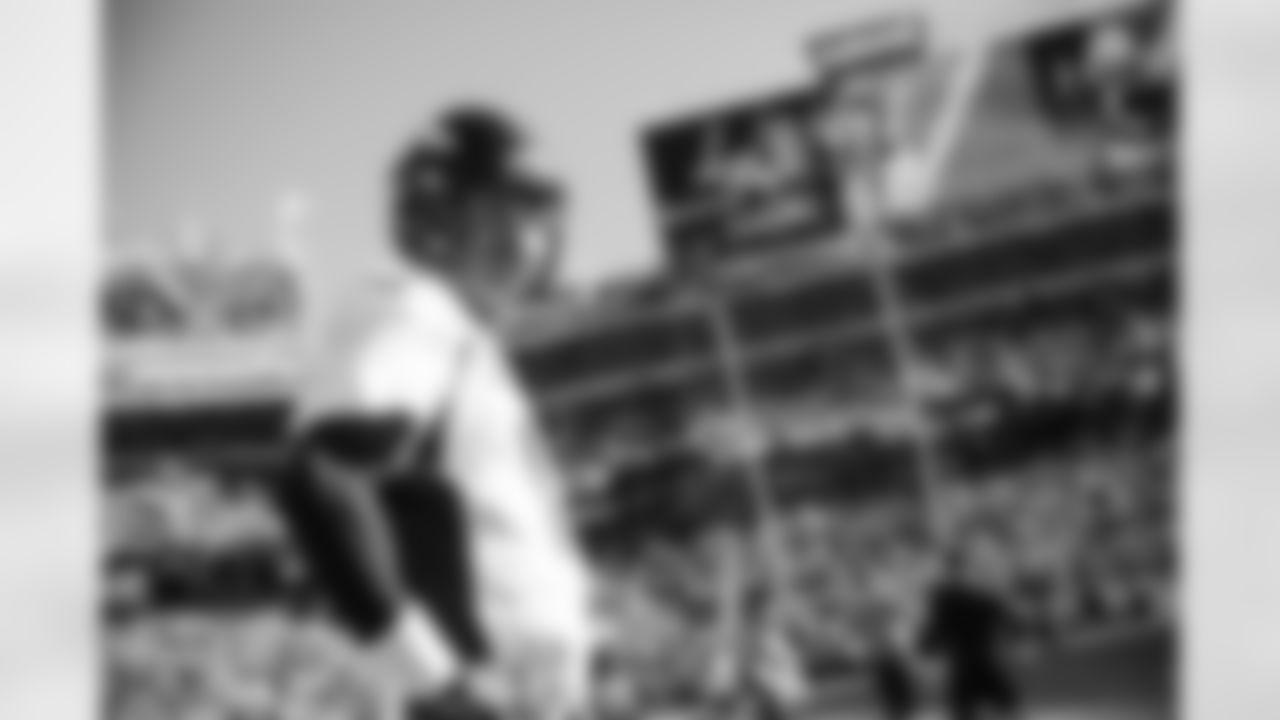 Peyton Manning during warmups before the game against the Carolina Panthers in Super Bowl 50 at Santa Clara, Calif.  February 7, 2016 (Photo by Trevor Brown, Jr./ Denver Broncos)
