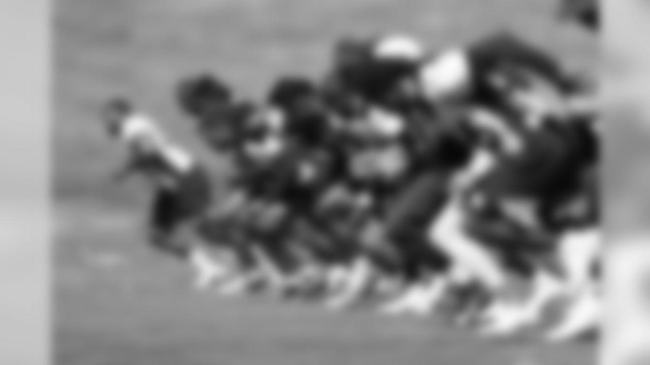 Von Miller, Melvin Gordon III, during strength and conditioning practice at UCHealth Training Center in Centennial, CO, August 03, 2020. Photo by Gabriel Christus