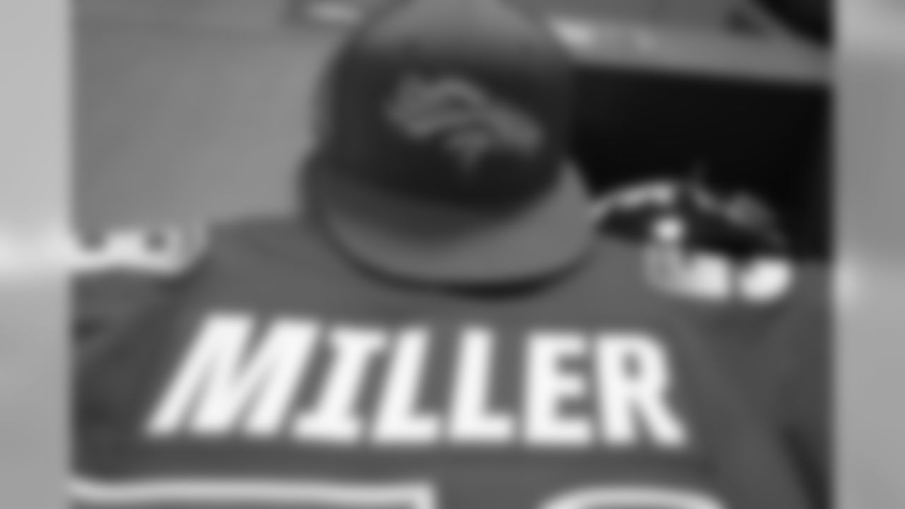 Von Miller's jersey in the locker room at the 2019 Pro Bowl at Camping World Stadium in Orlando, Florida, on January 27, 2019.