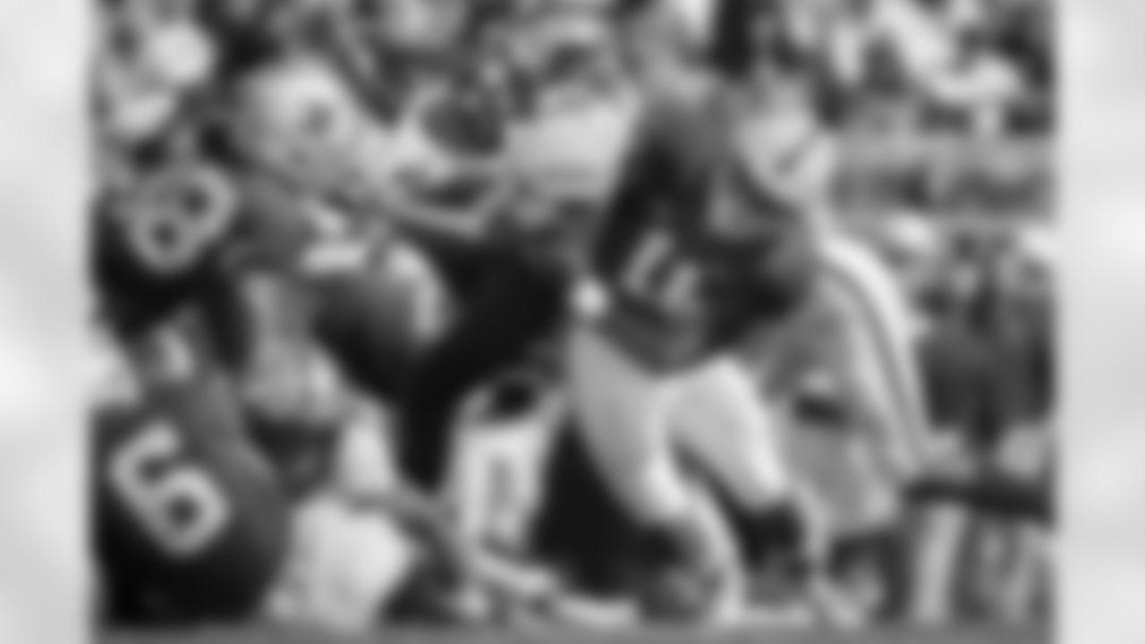 Mocked by: Nate Davis, USA TODAY [April 28, March 27, Jan. 28], Chris Trapasso, CBS Sports [April 27], Jonathan Jones, CBS Sports [April 27], Nick Klopsis, Newsday [April 23], Danny Kelly, The Ringer [April 23], Walter Cherepinsky, WalterFootball.com [circa April 23, April 2], Eddie Brown, San Diego Union Tribune [April 23], Jeff Kerr, CBS Sports [April 22], Pete Prisco, CBS Sports [April 20, March 30, Feb. 16], Sam Farmer, Los Angeles Times [April 19], Charles Davis, NFL.com [April 16], Charley Casserly, NFL.com [April 15], Mel Kiper Jr., ESPN [April 13, via mock trade to No. 14 - March 23, Feb. 7], Mike Tannenbaum, ESPN.com [April 6], Seth Galina, Pro Football Focus [April 2], Ryan Wilson, CBS Sports [March 30], Josh Edwards, CBS Sports [March 11, Feb. 18, Jan. 30], Chad Reuter, NFL.com [Feb. 8], Steve Palazzolo, Pro Football Focus [Jan. 25]  (AP Photo/Barry Reeger, File)