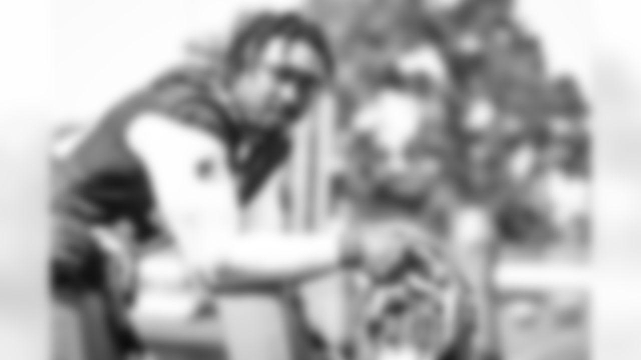 Defensive end Myles Garrett (95) during practice on August 24, 2021.