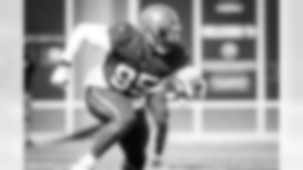 Defensive end Myles Garrett (95) during practice on September 1, 2021.