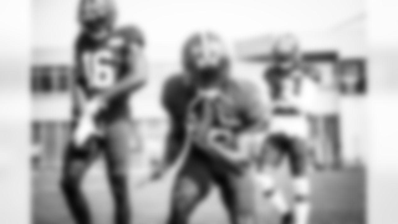 Wide receiver Rashard Higgins (82) during practice on August 25, 2020