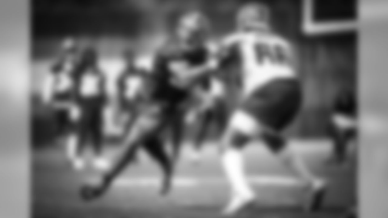 Defensive end Myles Garrett (95) during practice on September 13, 2019