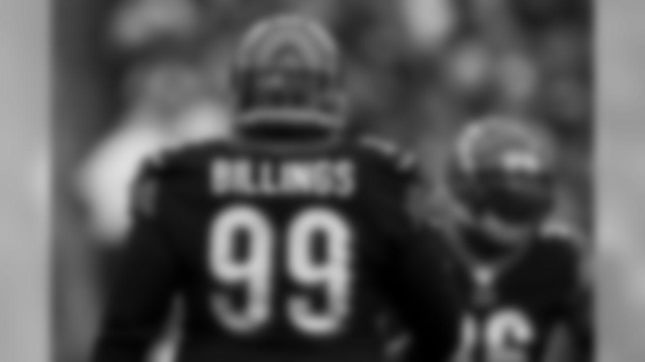 Cincinnati Bengals defensive tackle Andrew Billings (99) during an NFL football game against the New England Patriots, Sunday, Dec. 15, 2019, in Cincinnati. The Patriots won 34-13. (Aaron Doster via AP)