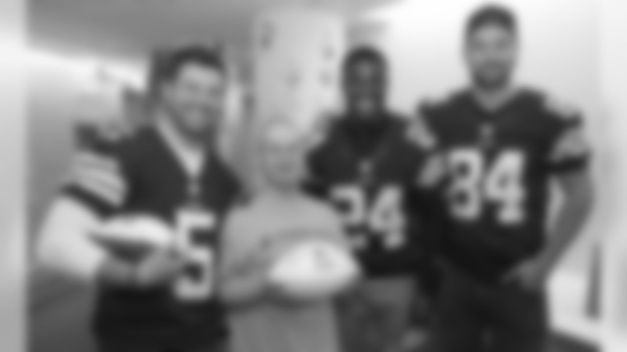 Spencer Lanning, Johnson Bademosi, and Jordan Cameron got to meet one of the biggest Browns fans.