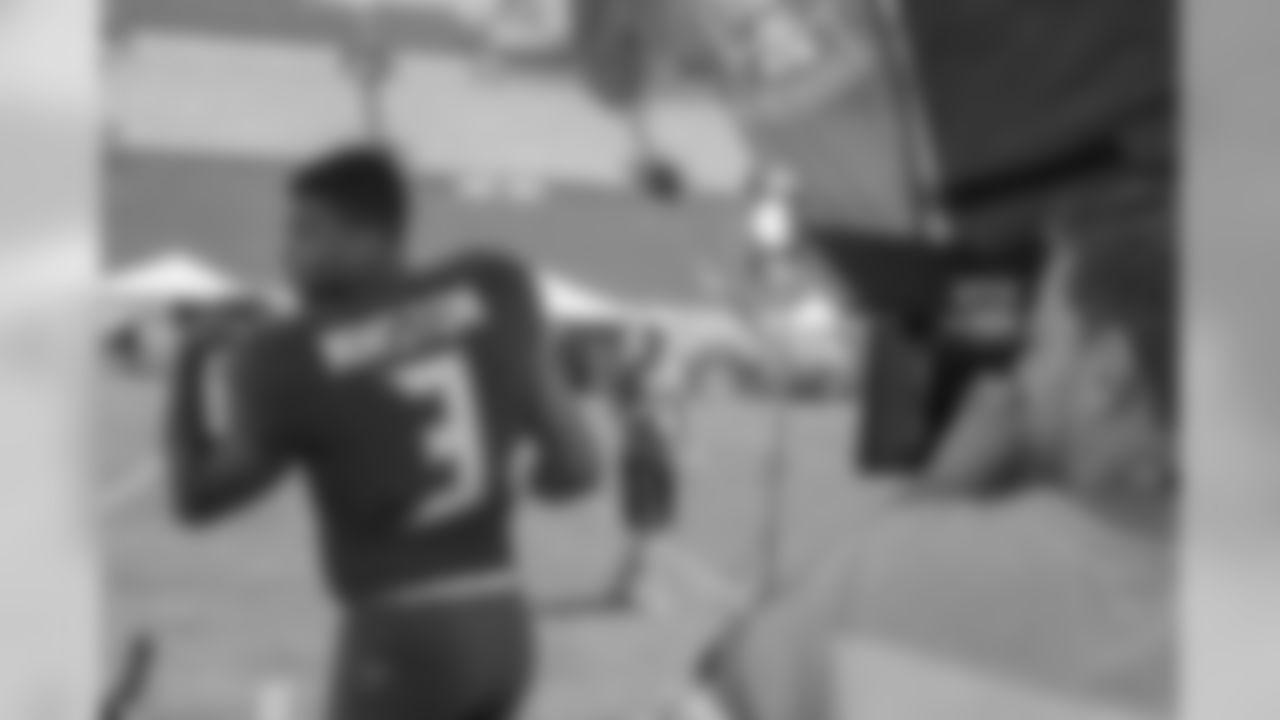 Tampa Bay Buccaneers quarterback Jameis Winston is interviewed at the NFLPA Rookie Premiere