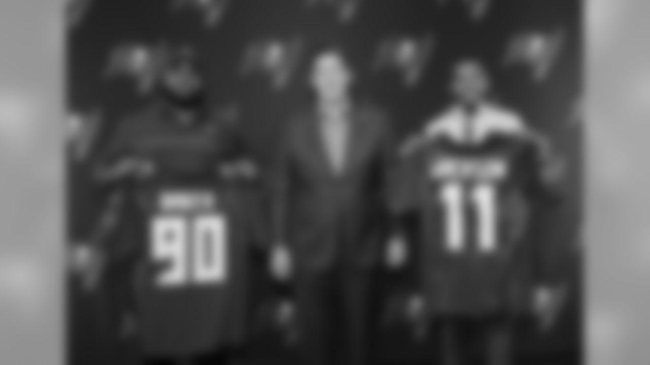 WR DeSean Jackson, DT Chris Baker, and GM Jason Licht