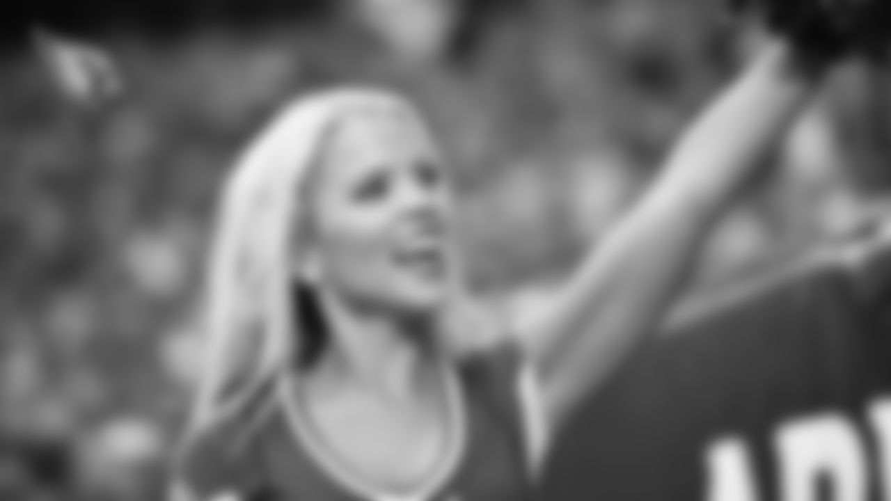 Images of Cardinals cheerleader Darby during the 2019 season