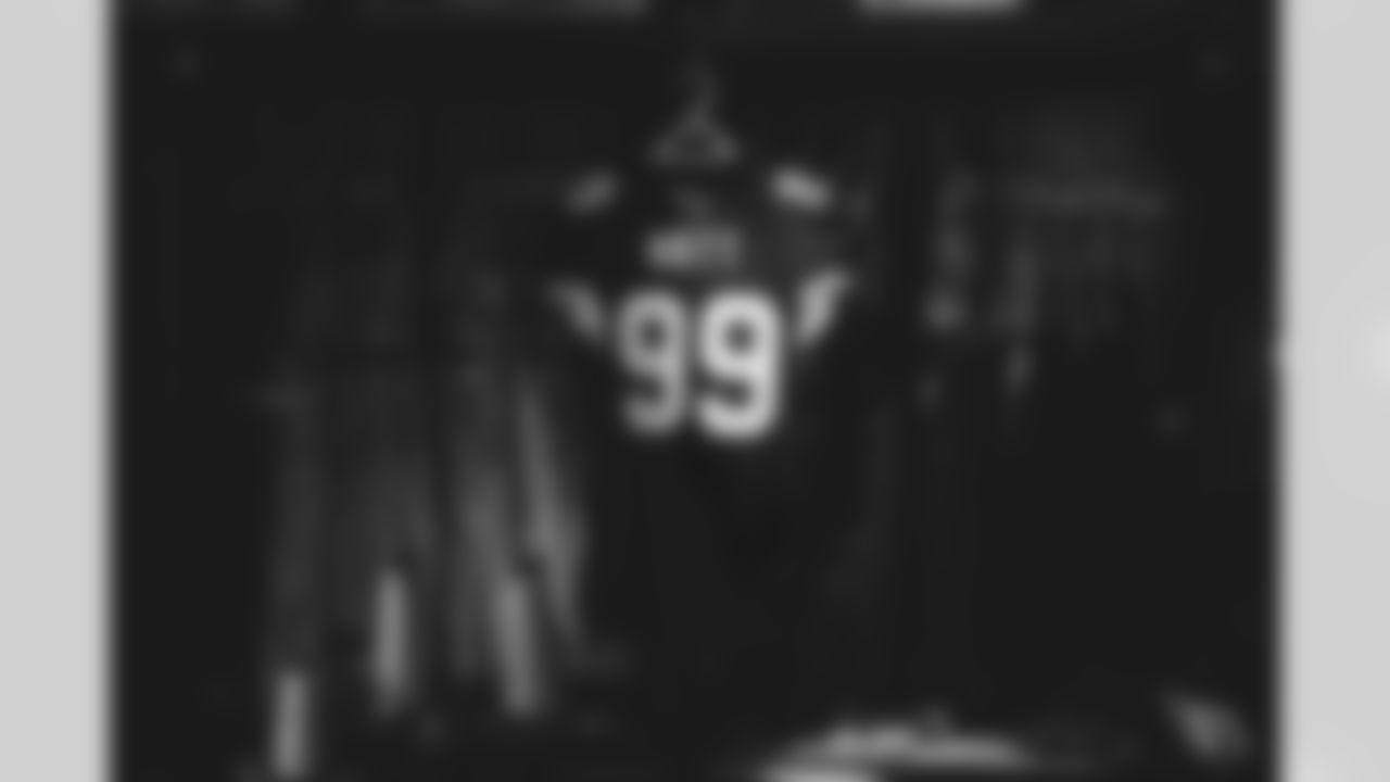 A look at defensive end J.J. Watt's Cardinals jersey being created