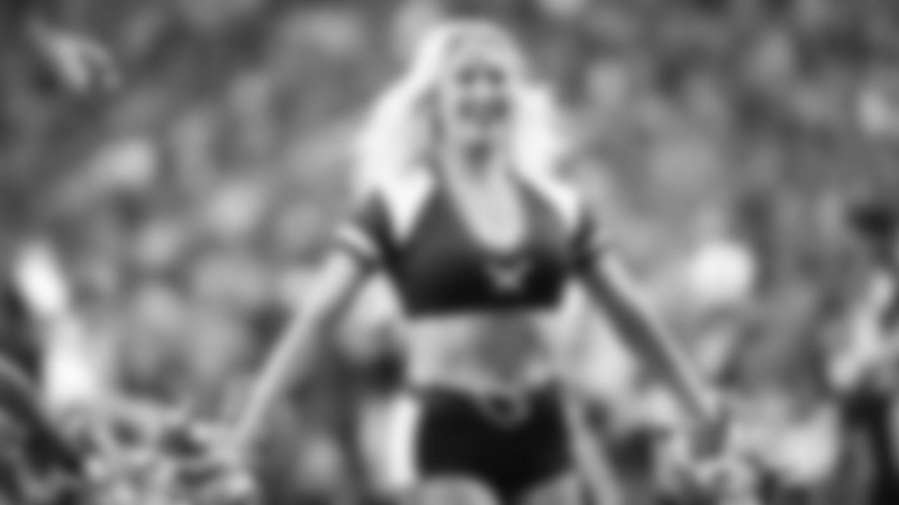 Images of Cardinals cheerleader Jenna during the 2019 season