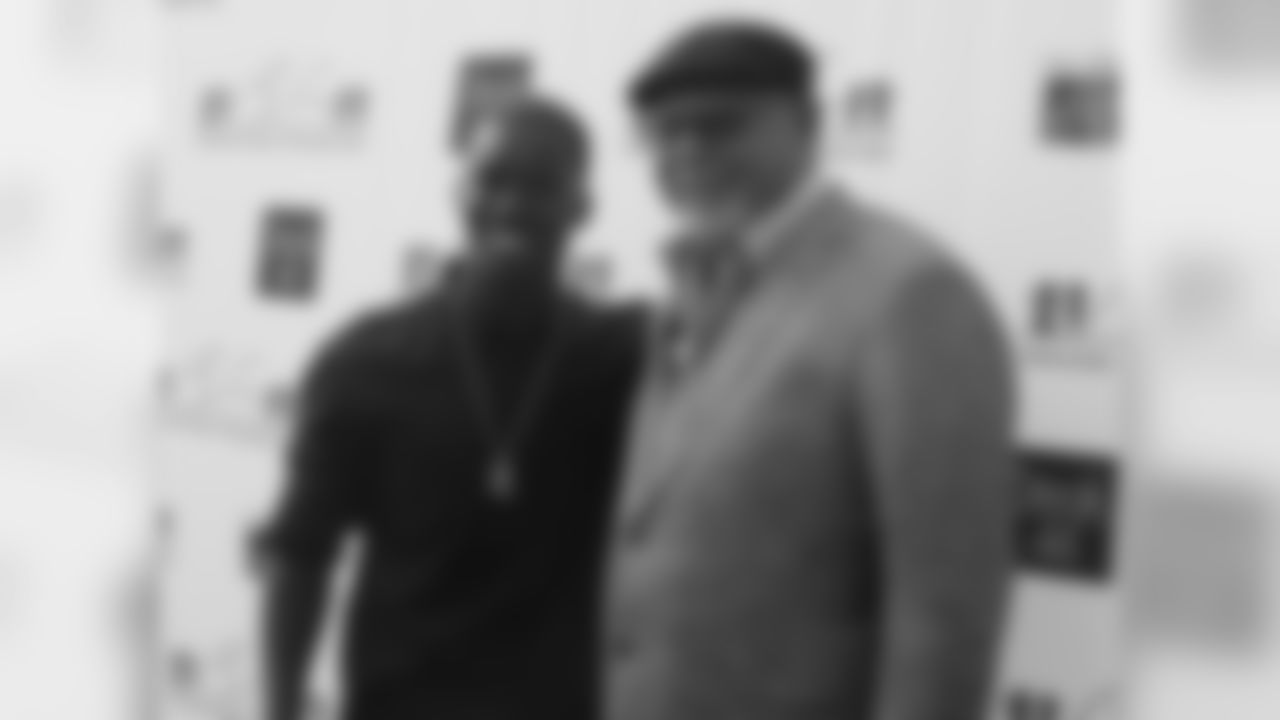 Coach Bruce Arians (right) with WR John Brown