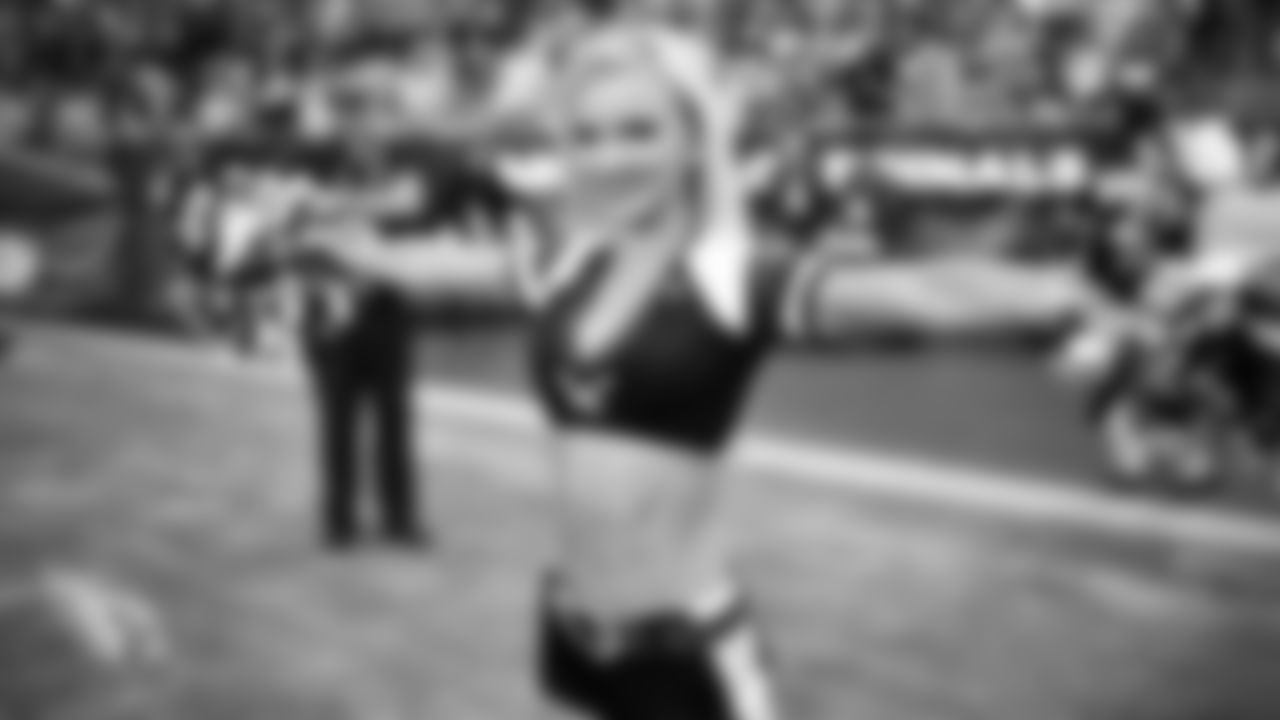 Images of Cardinals cheerleader Brenan during the 2019 season