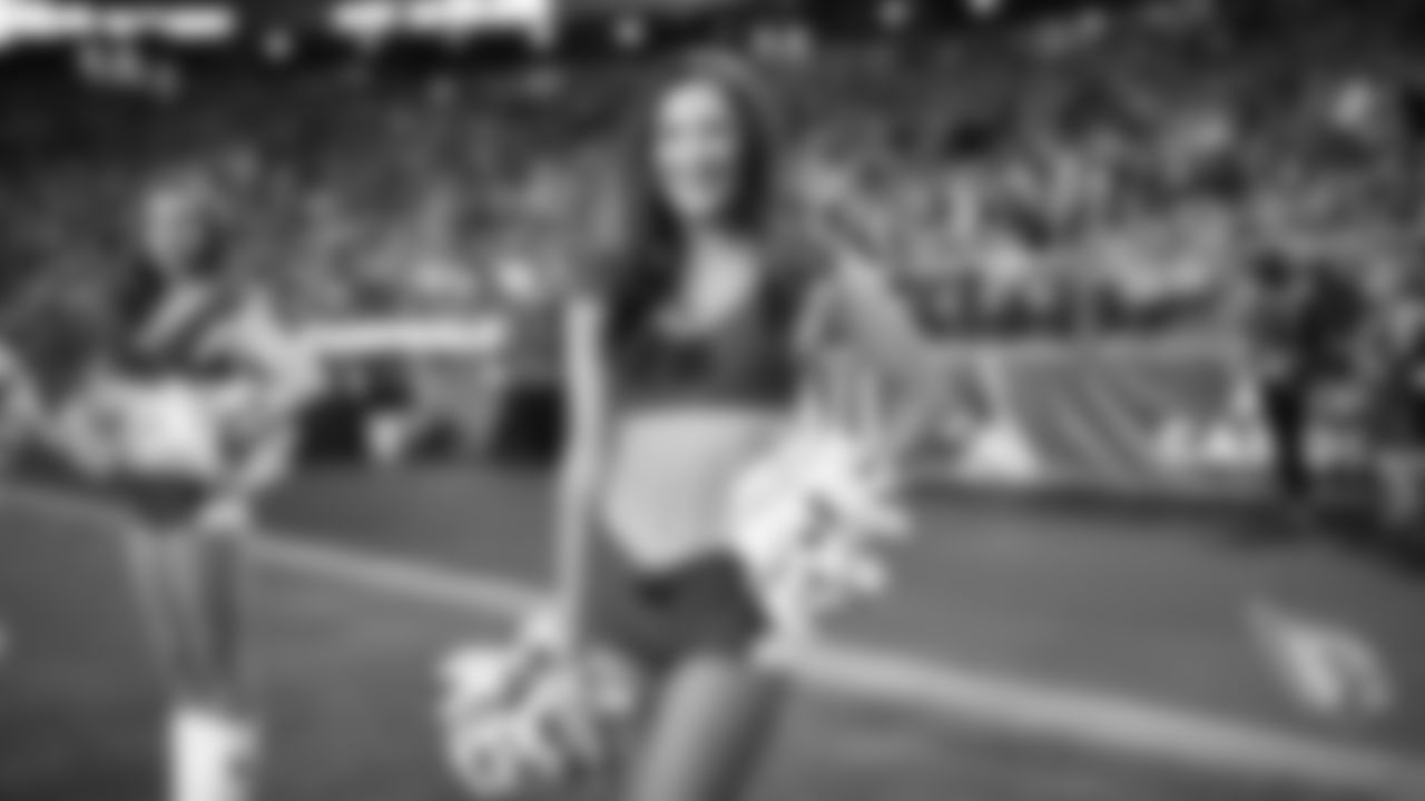 Images of Cardinals cheerleader Amanda during the 2019 season