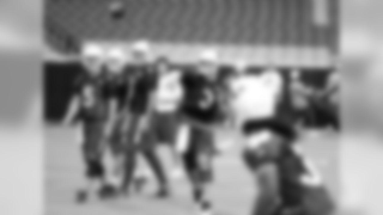 QB Carson Palmer throws a pass