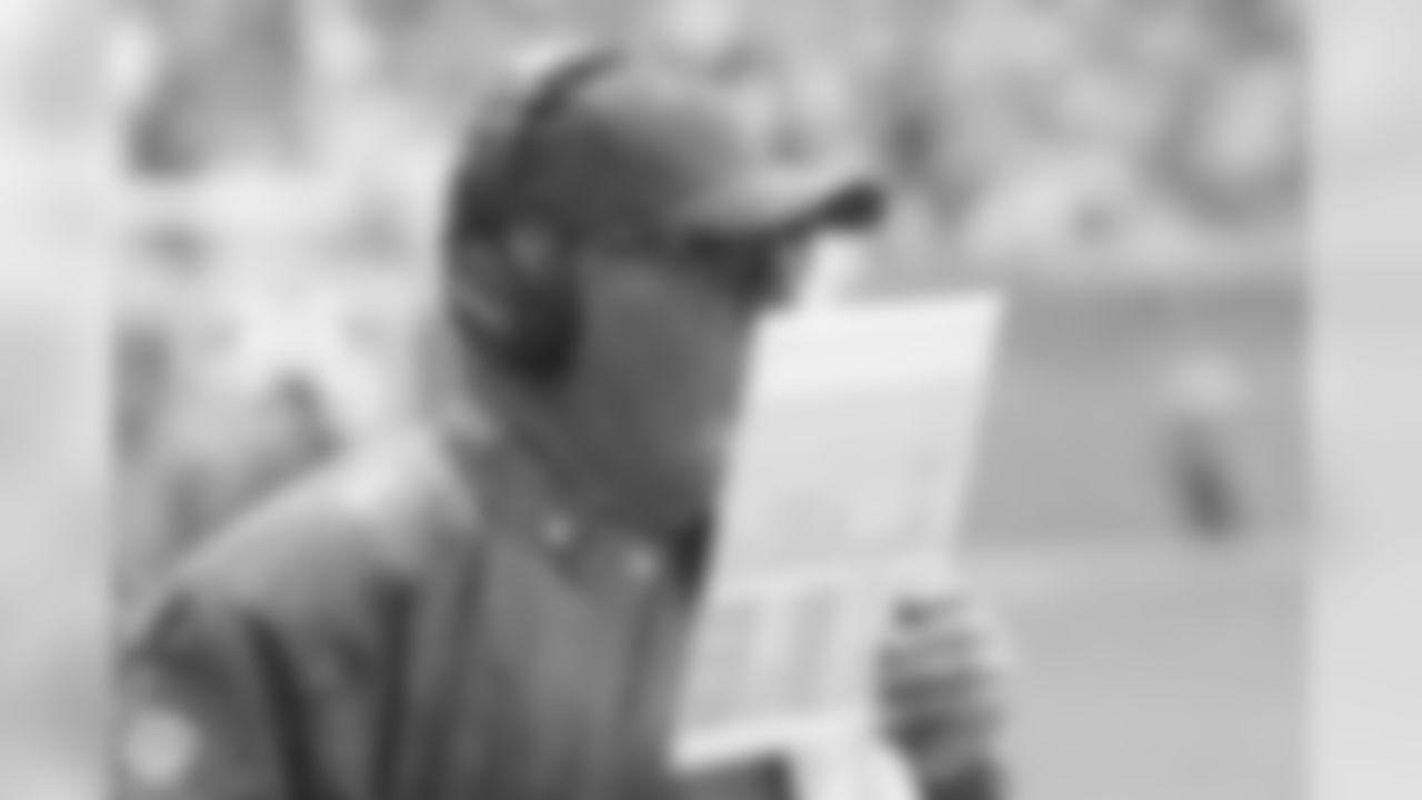 Coach Bruce Arians calls plays in the rain