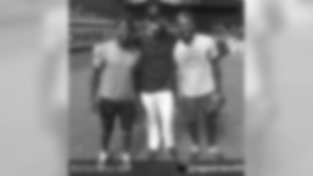 CB Jerraud Powers (@jpowers25) with Diamondbacks P Archie Bradley and CB Patrick Peterson