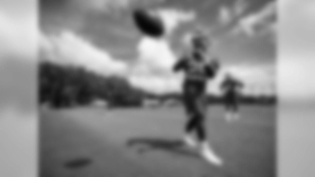 Kansas City Chiefs running back Kerwynn Williams (25) during practice on 7/30/18 at Chiefs Training Camp at Missouri Western State University in St. Joseph, Missouri.
