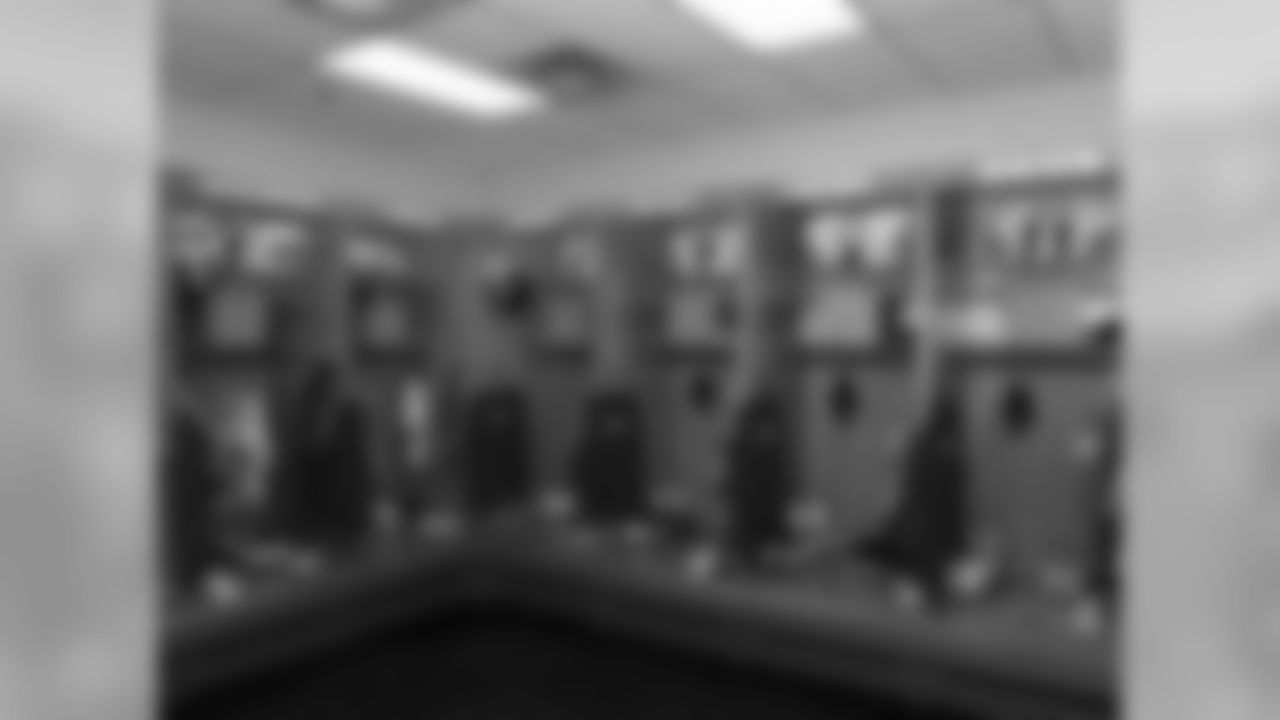 Kansas City Chiefs lockers ready prior to the preseason game against the Chicago Bears, Saturday, August 27, 2016, in Chicago, Illinois.